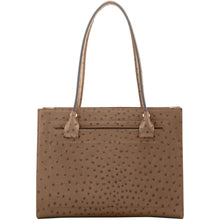 Load image into Gallery viewer, Dooney & Bourke Ostrich Janine Satchel Top Handle Bag