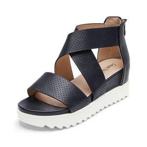 DREAM PAIRS Women's Platform Wedge Sandals Open Toe Ankle Strap Summer Shoes