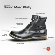 Load image into Gallery viewer, BRUNO MARC Men Military Motorcycle Combat Riding Ankle Leather Boots Size 6.5-15