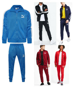 MEN'S PUMA FASHION ICONIC T7 GYM TRACK JACKET + MATCHING PANTS TRACKSUITS