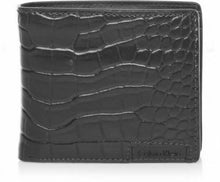 Load image into Gallery viewer, New Calvin Klein Ck Men's Leather Wallet Id Billfold With Coin Case Black 79600