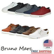 Load image into Gallery viewer, BRUNO MARC Mens Mesh Leather Sneakers Casual Shoes Slip On Lace Up Waking Shoes