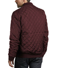 Load image into Gallery viewer, Men's Ring Zipper Stylish Quilted Water Resistant Slim Fit Bomber Jacket JASON