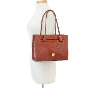Dooney & Bourke Ostrich Janine Satchel Top Handle Bag