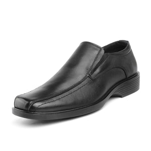 Bruno Marc Men's Genuine Leather Square Toe Slip On Formal Dress Loafer Shoes