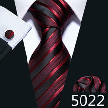 Load image into Gallery viewer, USA Mens Tie Ties Set Necktie Silk Red Black Blue Gold Wedding Formal Gift