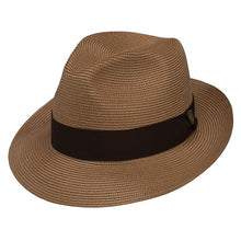 Load image into Gallery viewer, Rosebud Milan Straw Fedora by Dobbs