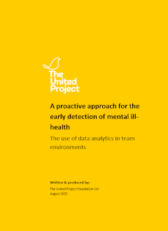 proactive approach for the early detection of mental ill-health: White Paper by The United Project