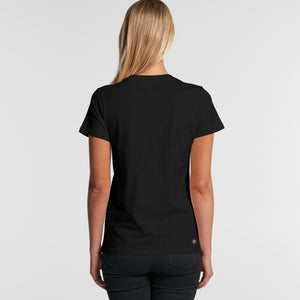 King Classic Tee Female Blk (back) - The United Project