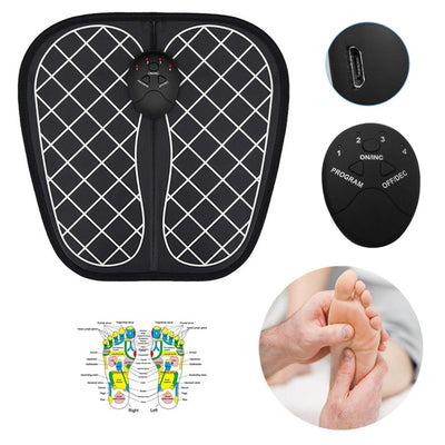 Electric EMS Foot Massager Pad Feet Muscle