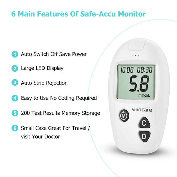 Blood Glucometer Set Blood Glucose Monitor