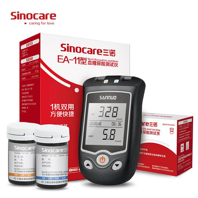 Uric Acid & Blood Glucose Testing Meter Kit