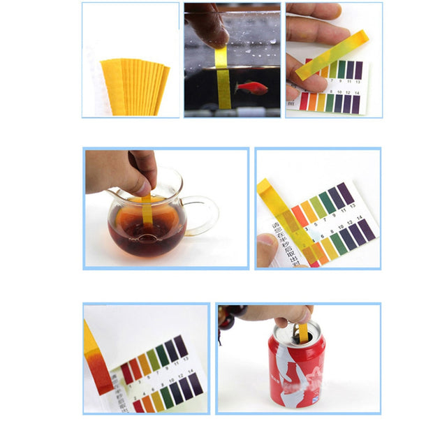 80 Strips/pack Tropical Aquarium pH test strips