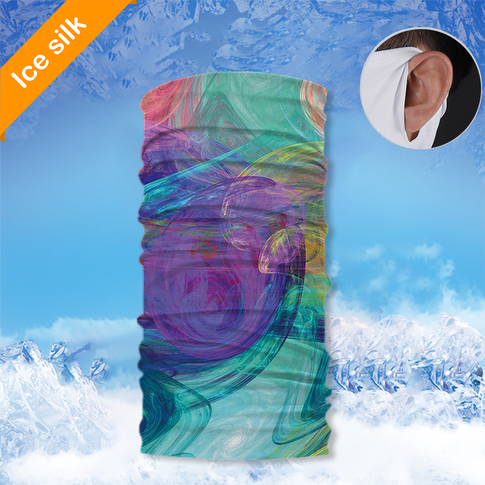 Ice Silk Neck Gaiter with Ear Loops BSGE-019