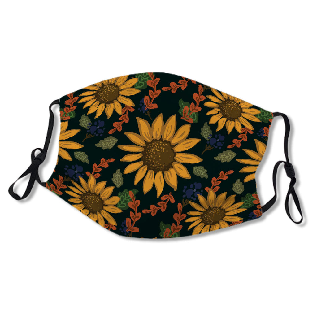 Fall Sunflower And Vine Floral Pattern No. CZIIE8