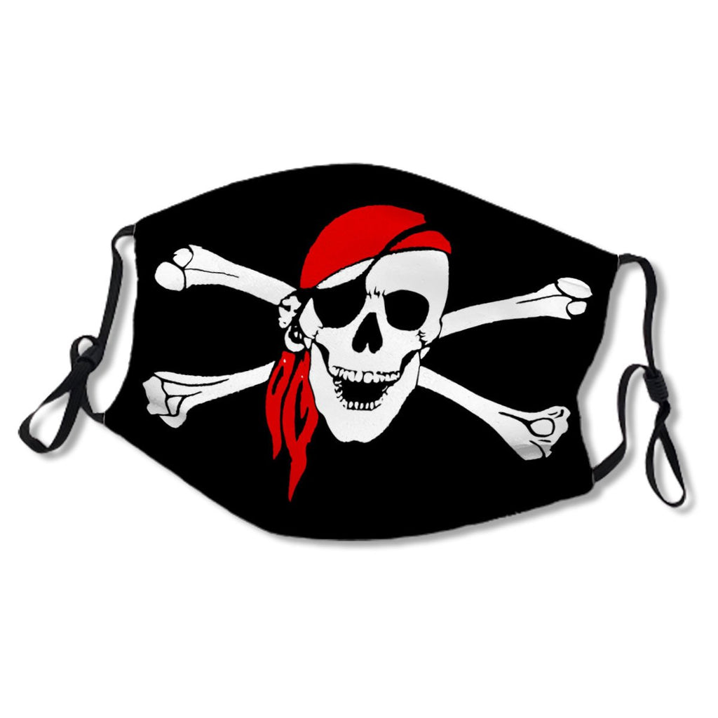 Black And White Crossbones Pirate Skull No. DJ8HPT