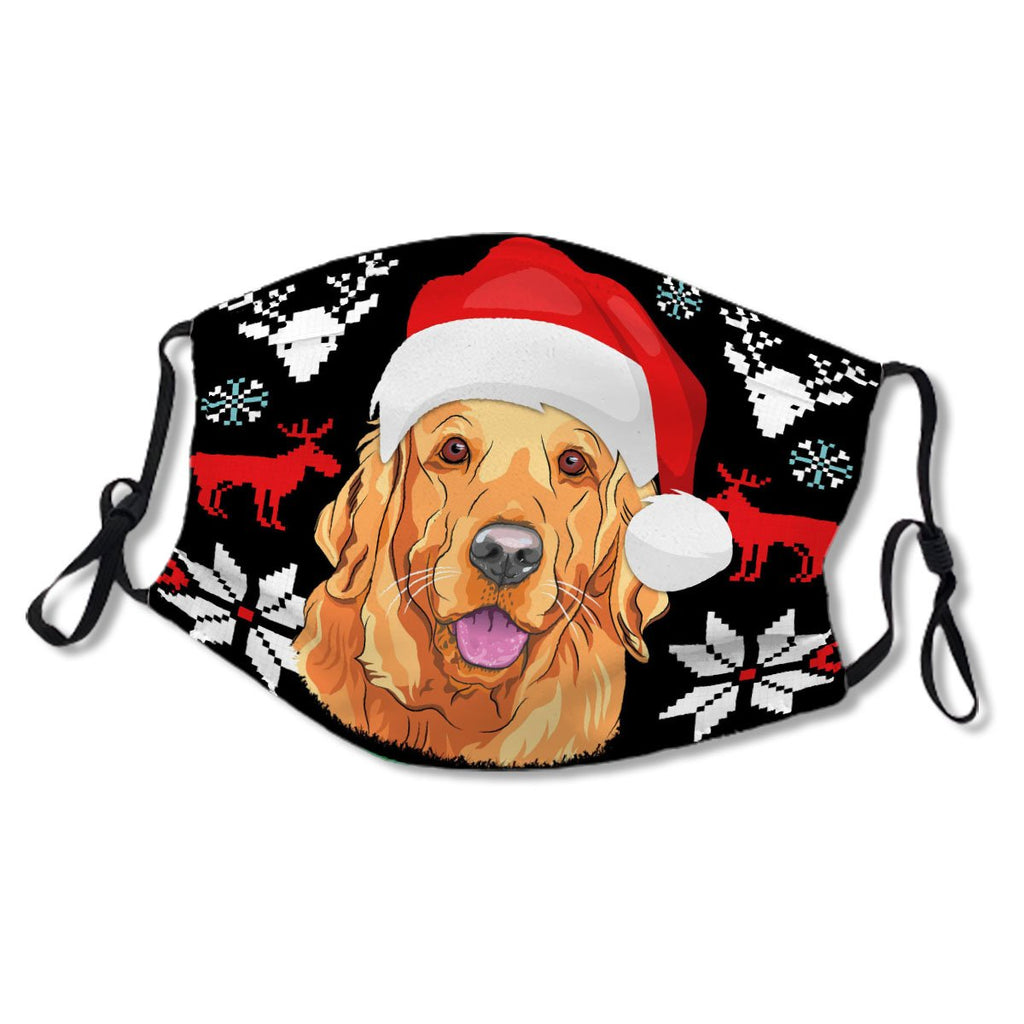 Merry Woofmas Golden Retriever X-Mas No. JGBF3A