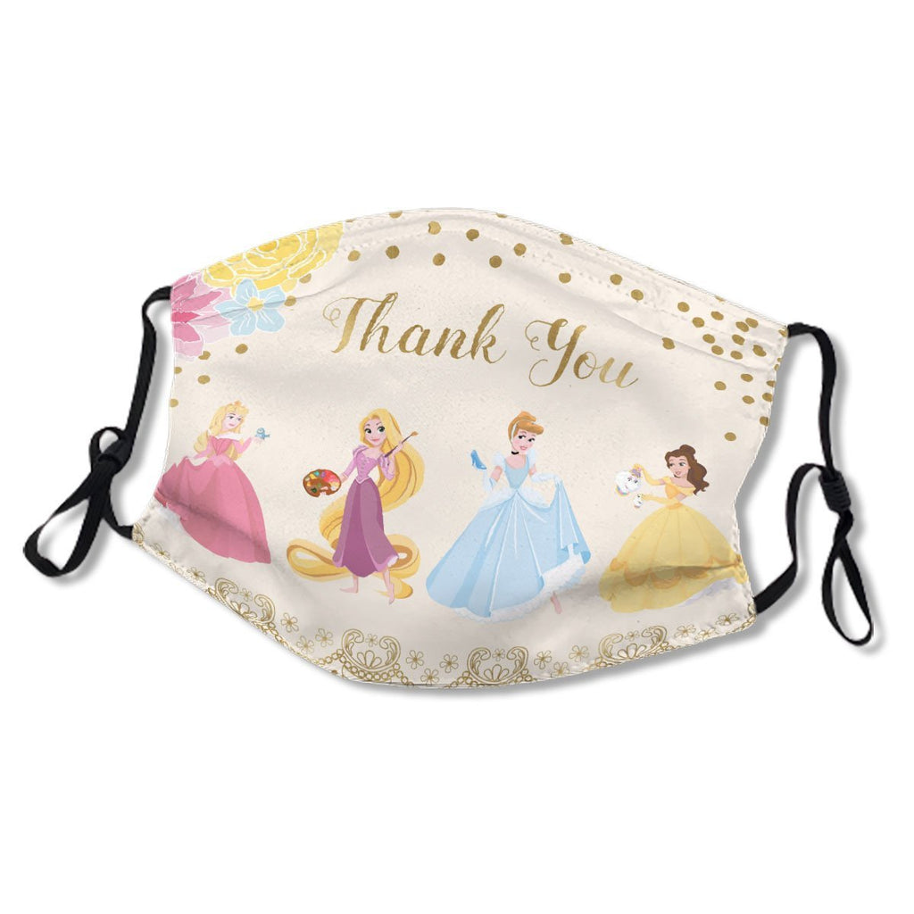 D Princess Floral Gold Confetti Thank You No.LAPCY5