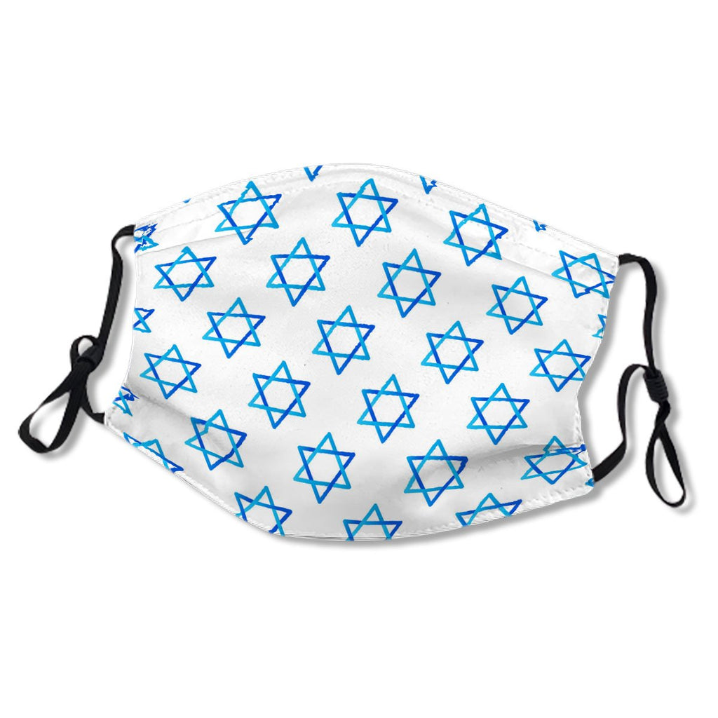 Happy Independence Day Blue Star of David pattern No.RZG7MY