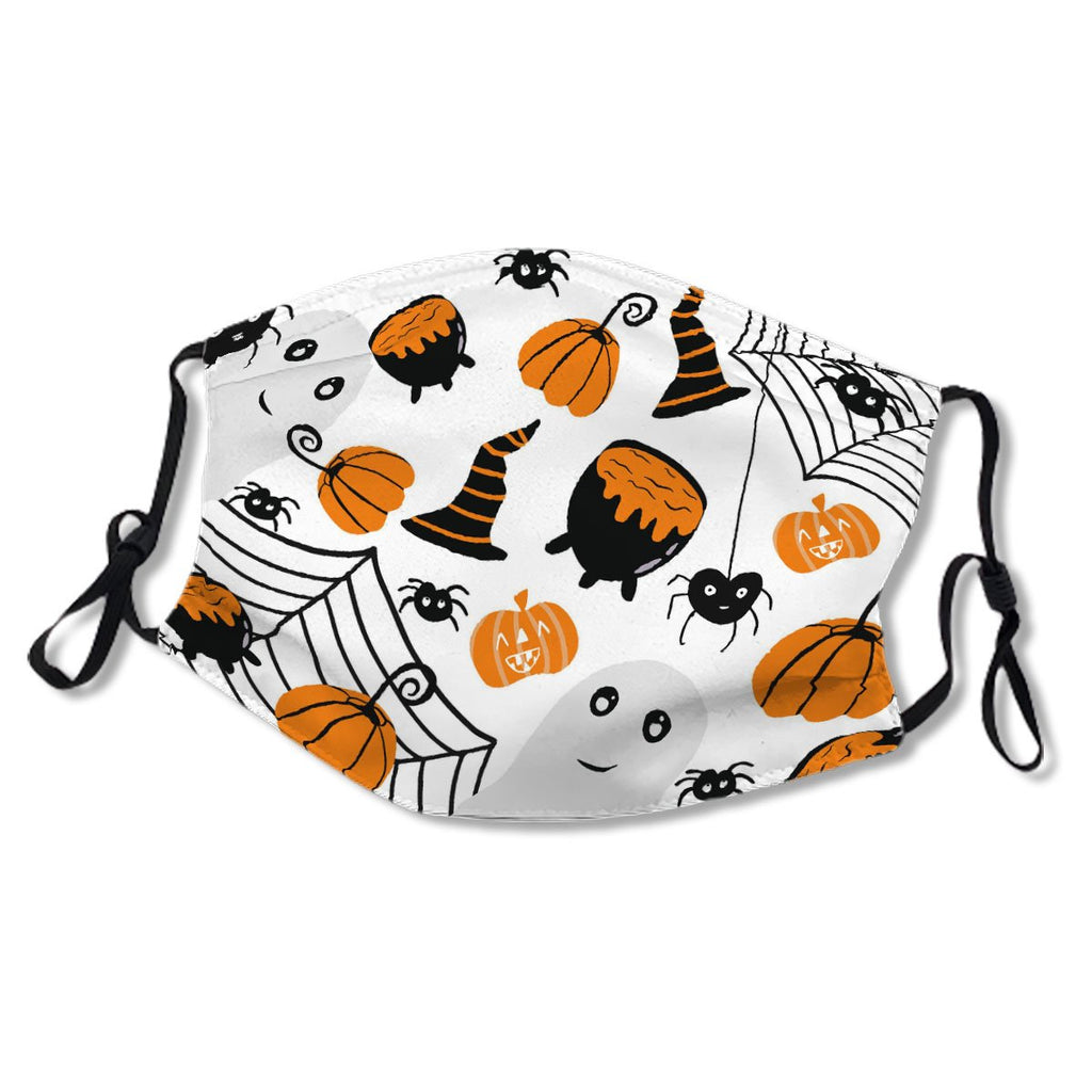 Cute Name Halloween Orange Illustration Pattern No. TZHMXY