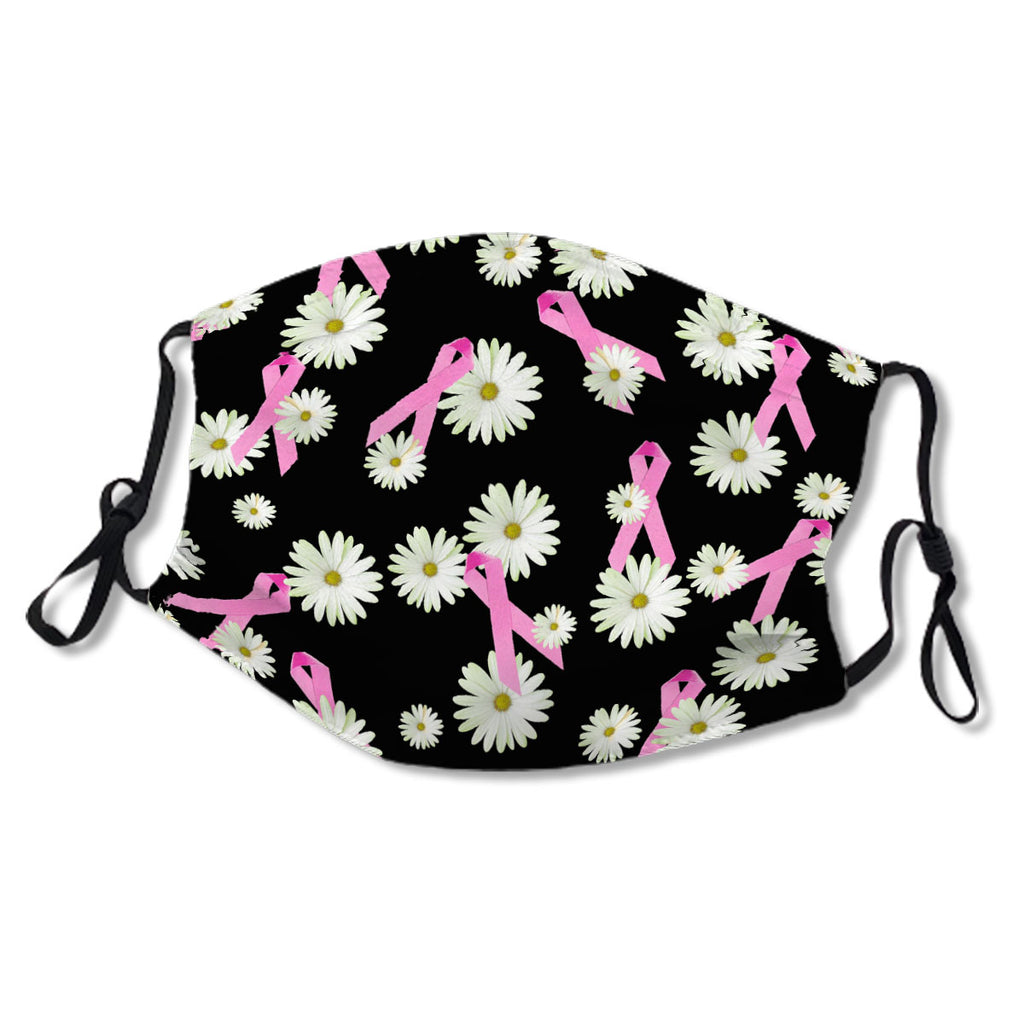 Breast cancer awareness pink ribbon and daisy No.XMBNHT