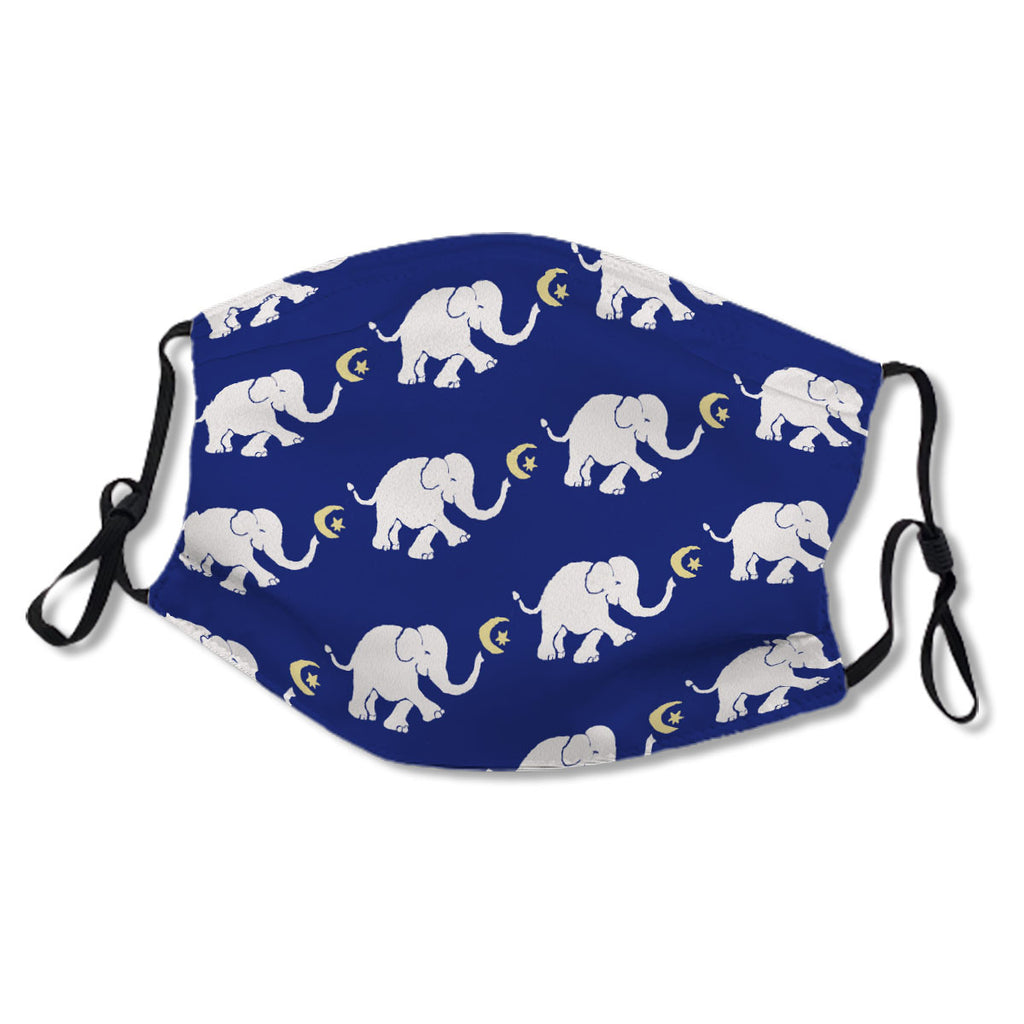 Poetic Night Blue Baby Elephant with Star and Moon No.Y784KP