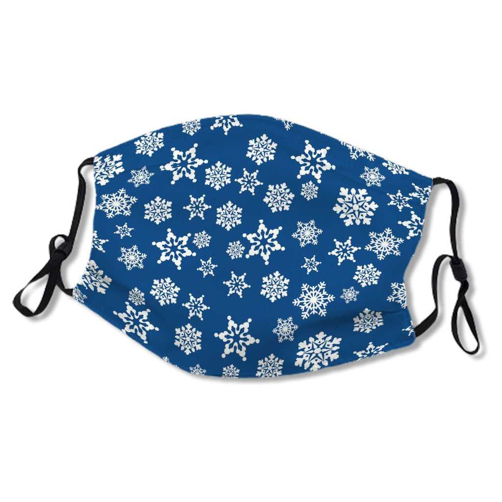 Ornate White Snowflake Pattern On Blue No. Y9S5SD