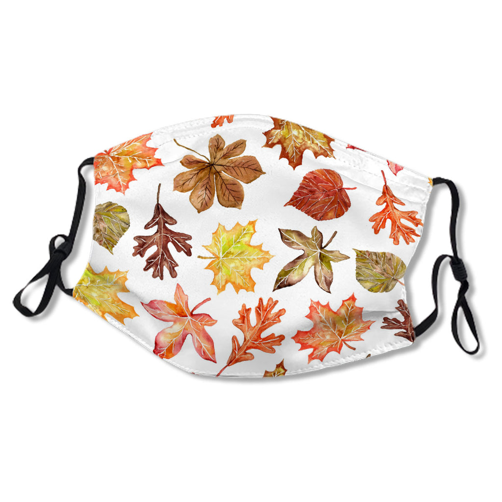 Colorful Autumn Leaves Pattern Custom Monogrammed No. YGX7M8
