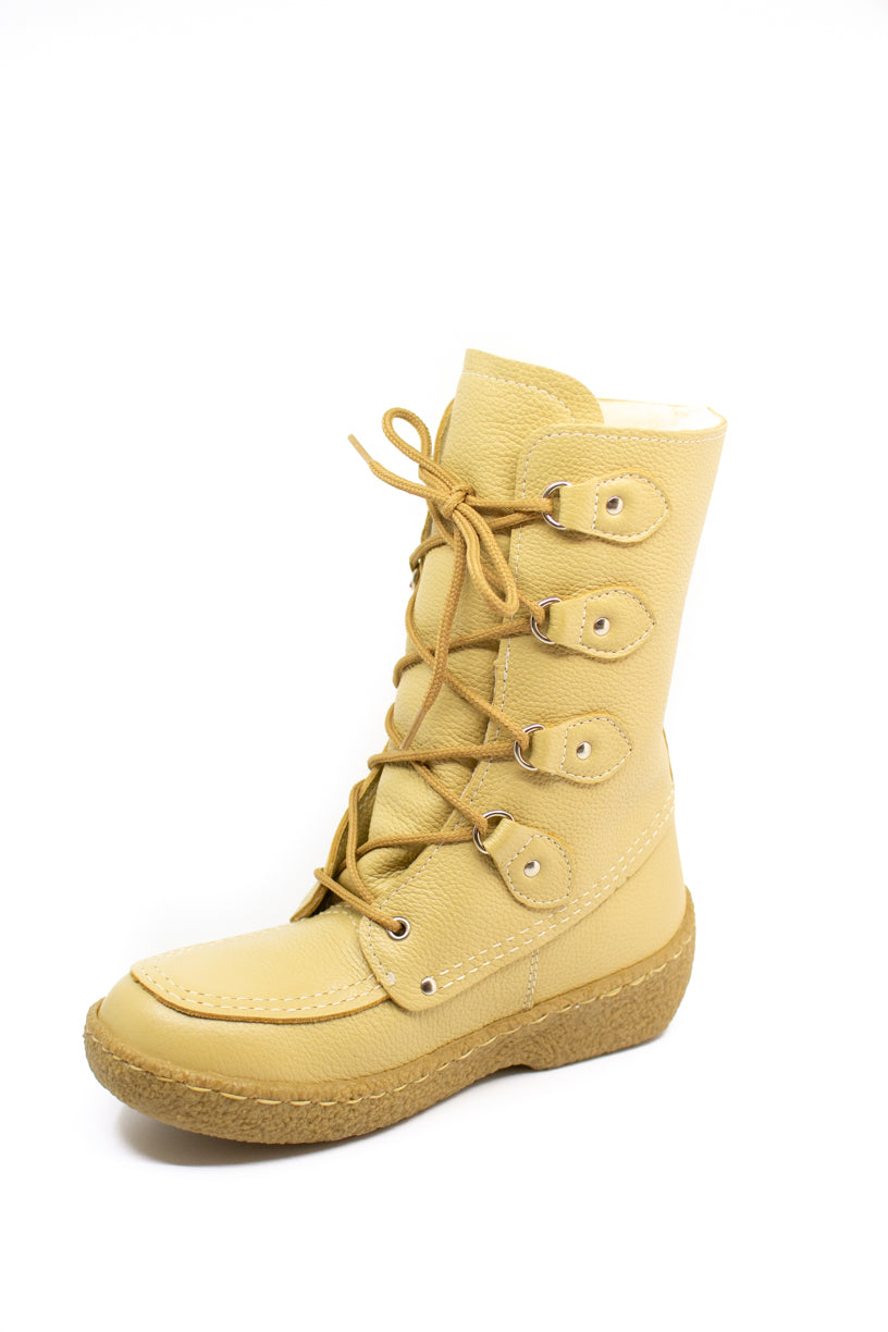 Women's Barbo Short Deerskin Boots Lined with Sheepskin – Deer Cream