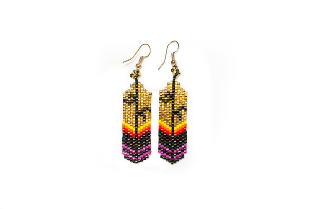 Beaded Earrings by Michelle Ferguson