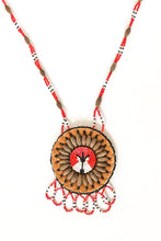 Load image into Gallery viewer, Beaded Lodge & Wolf Willow Seed Necklace