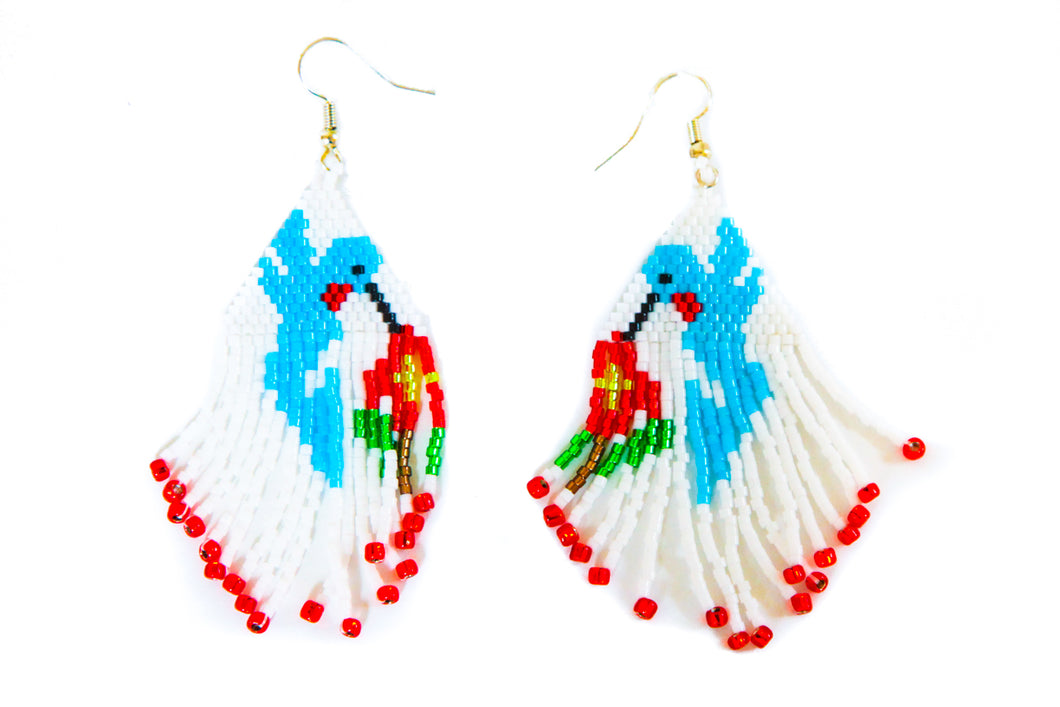 Hummingbird Beaded Earrings by Michelle Ferguson