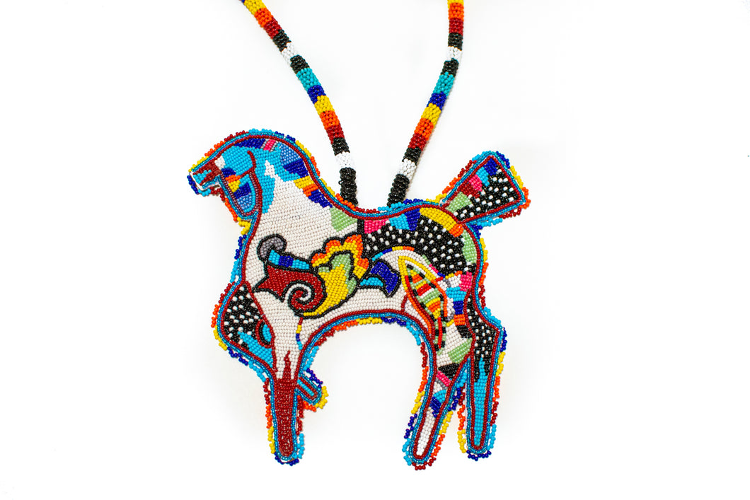 Blackfoot Beaded Horse Necklace