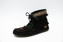 "Load image into Gallery viewer, Beaded ""Concho"" Suede Ankle High Boot with Black Sole"