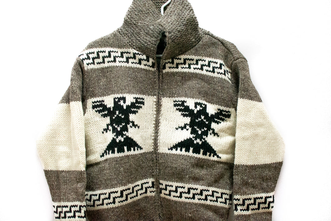 Hand-Knitted Thunderbird Sweater