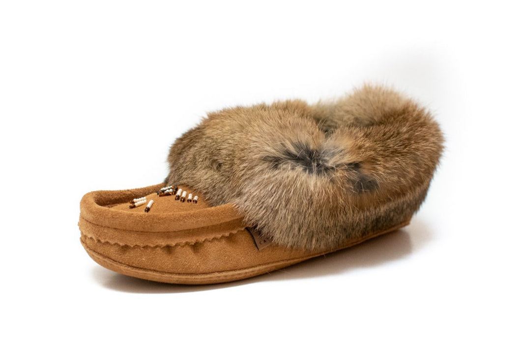 Women's Laurentian Chief Rabbit Fur Moccasins