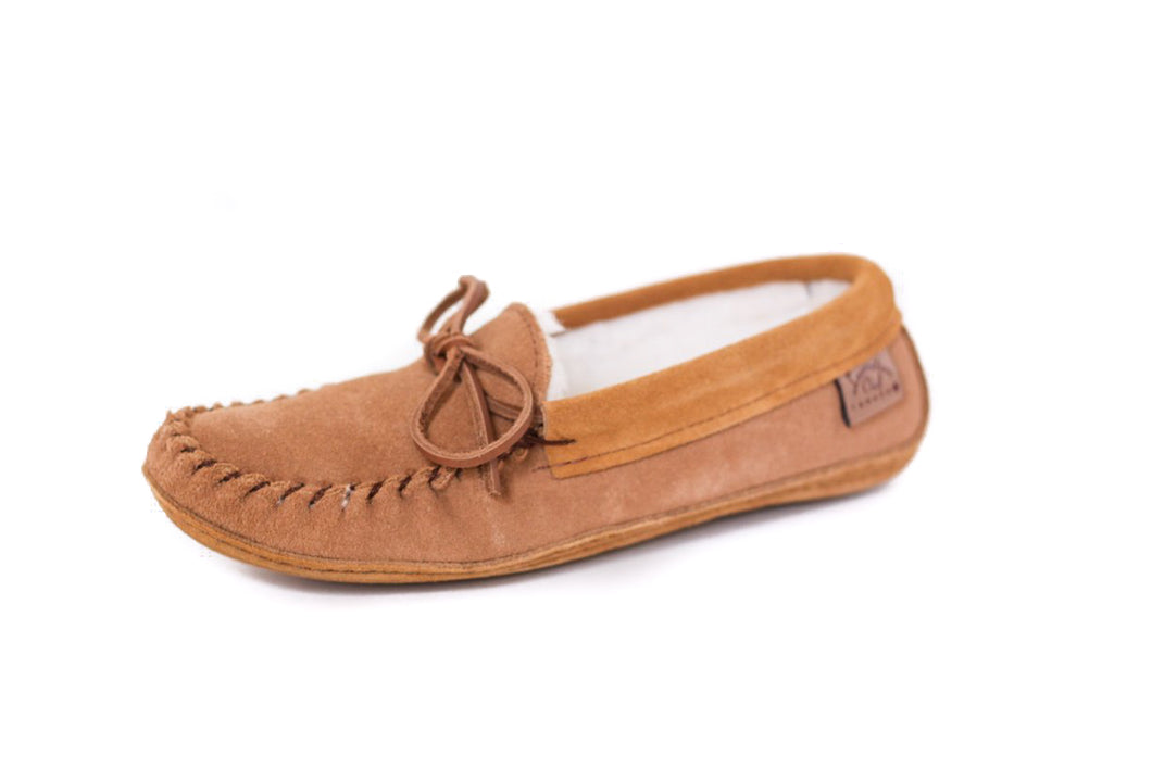 Men's Laurentian Chief Suede Slippers with Double Sole & Poly-Fleece