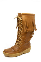 Load image into Gallery viewer, Men's Barbo Fringe Deerskin Boots - Peanut