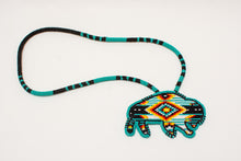 Load image into Gallery viewer, Blackfoot Beaded Buffalo Necklace