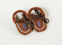 Load image into Gallery viewer, Children's Handmade Deer & Buffalo Suede Moccasins by Rhoeda Tyler