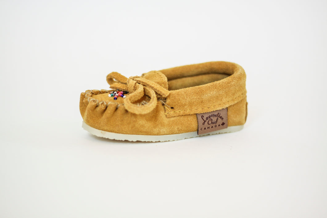 Children's Laurentian Chief Moccasins with Deer Suede & Crepe Sole