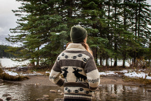 Hand-Knitted Moose Sweater