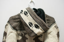 Load image into Gallery viewer, Hand-Knitted Moose Sweater with Hood