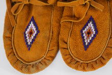Load image into Gallery viewer, Adult Handmade Deer Suede Moccasins by Rheoda Tyler
