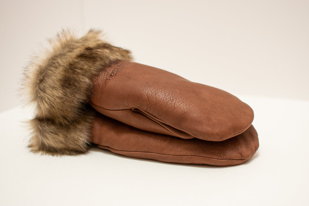 Hands in Hide Leather Mittens