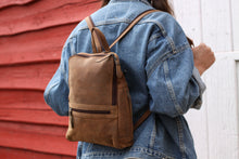 Load image into Gallery viewer, Buffalo Hide Backpack #2399