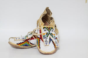 Hand Beaded Moccasins