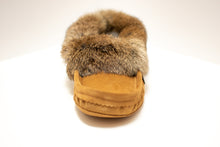 Load image into Gallery viewer, Men's Laurentian Chief Suede Slippers with Rabbit Fur Trim