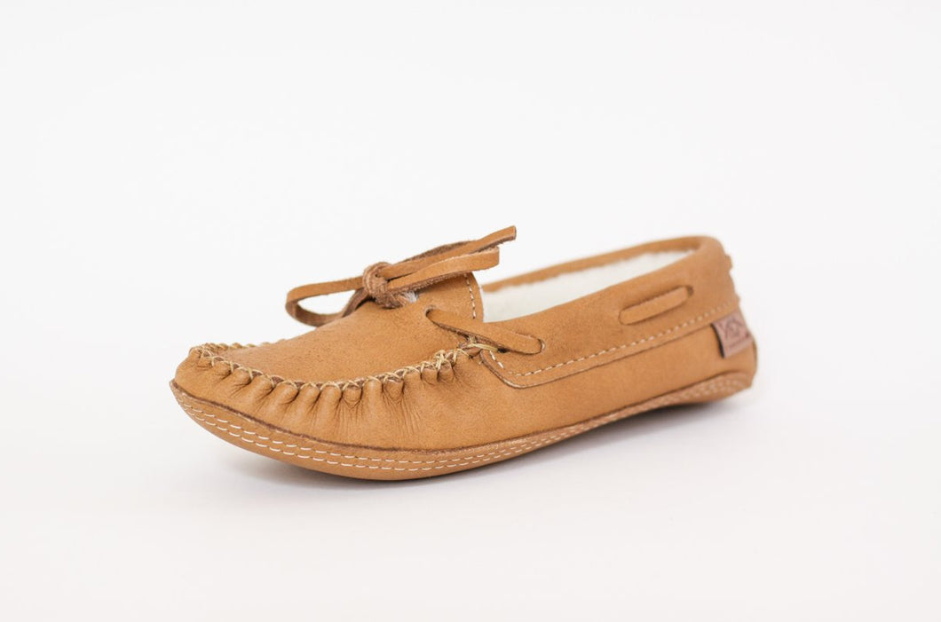 Men's Laurentian Chief Moosehide Moccasins with Sheepskin
