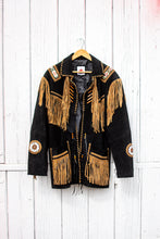 Load image into Gallery viewer, Beaded Leather Fringe Jacket